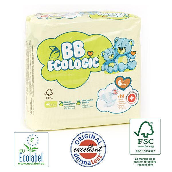 BB Ecologic - Lot 4x22 Couches jetables écologiques Junior - T6, 16kg