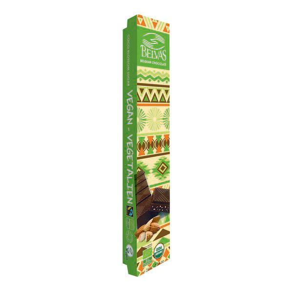 Belvas - Barre chocolat noir aux amandes 24g