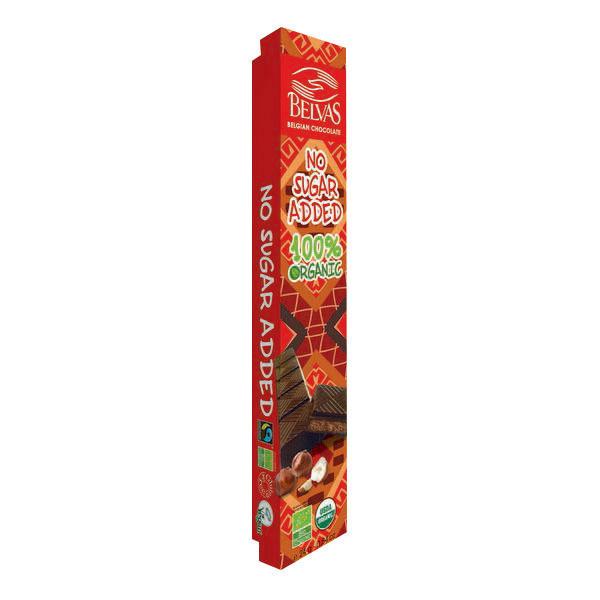 Belvas - Barre chocolat noir fourré praliné noisette 24g