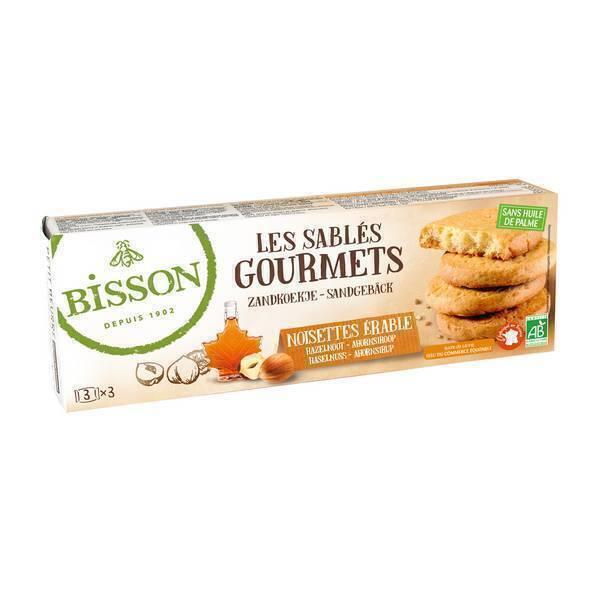 Bisson - Sablés gourmets noisettes érable 150g