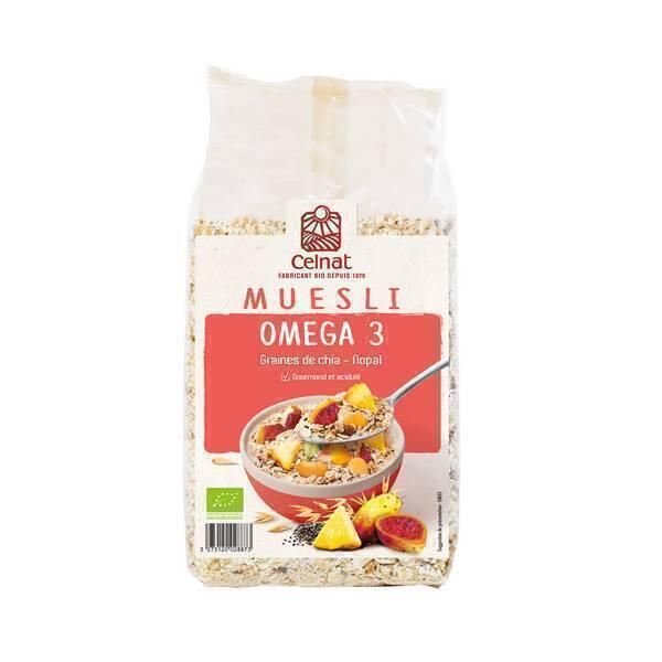 Celnat - Muesli Oméga 3 nopal et graines de chia 375g