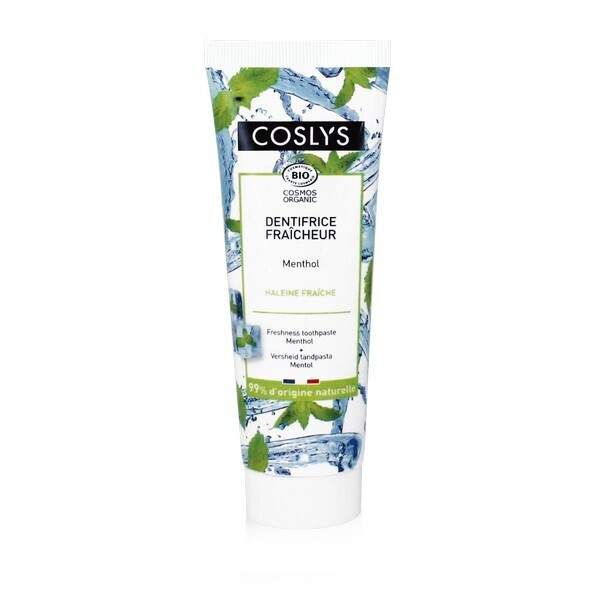 Coslys - Dentifrice fraîcheur menthol 100g