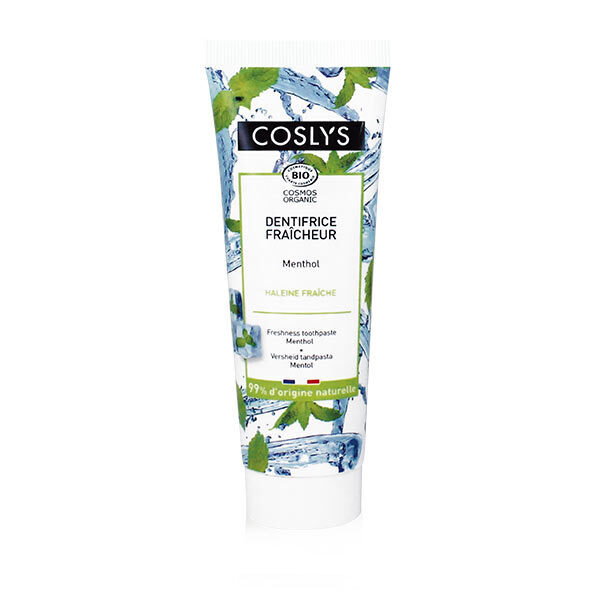 Coslys - Dentifrice fraîcheur menthol 75ml