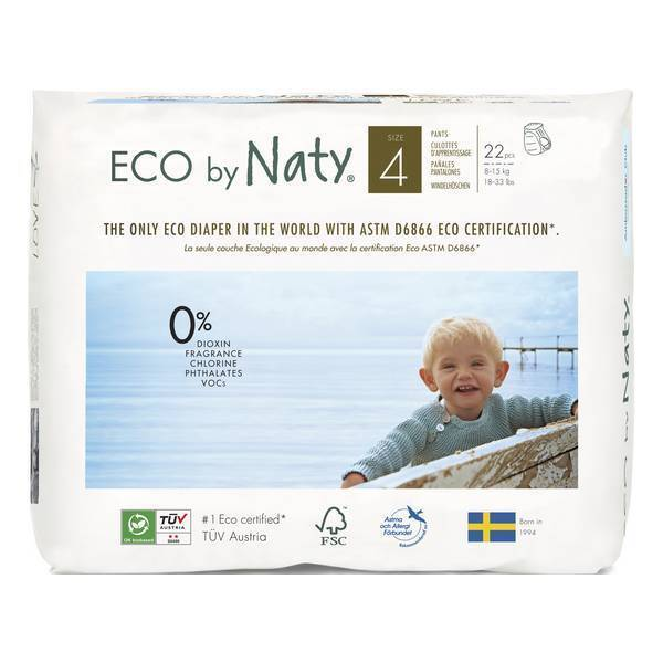 Eco by Naty - 22 Culottes apprentissage Jetables T4 8-15 kg