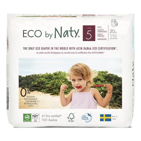 Eco by Naty - 20 Culottes apprentissage Jetables T5 12-18kg
