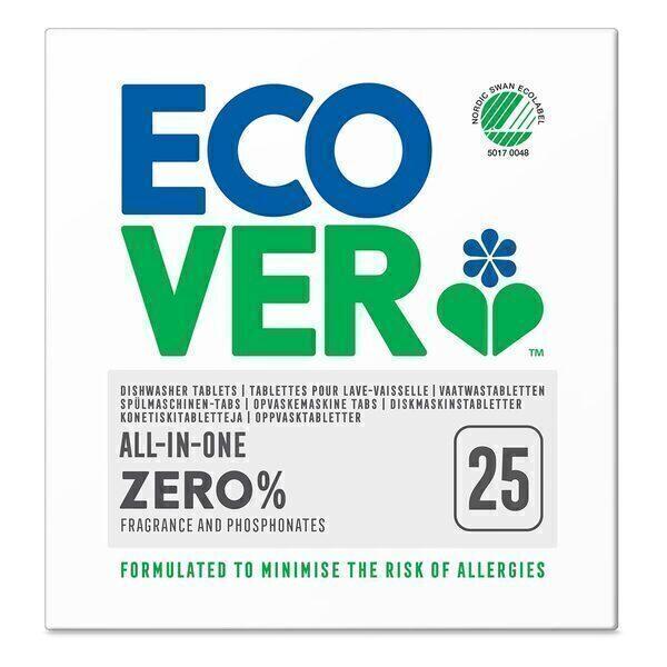 Ecover - 25 tablettes lave-vaisselle 0% Tout-en-Un