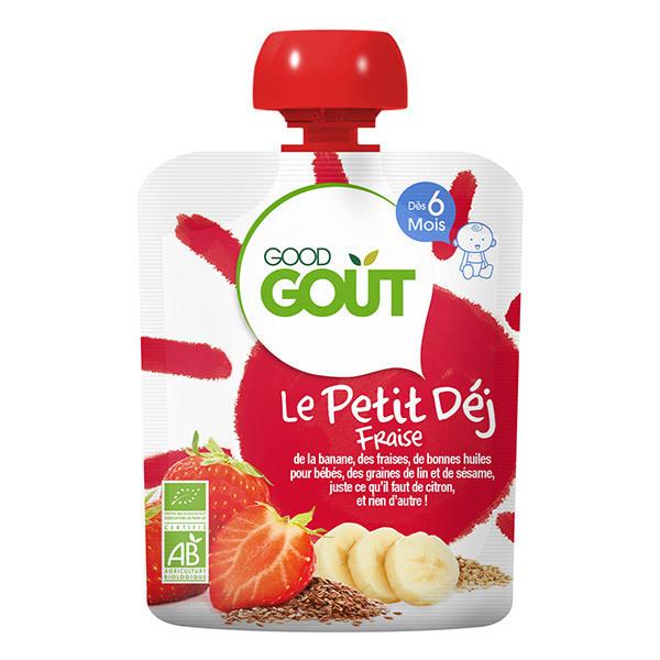 Good Gout - Lot de 2 x Gourde Le Petit Déj Fraise - 2 x 70g