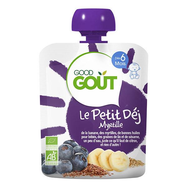 Good Gout - Lot de 2 x Gourde Le Petit Déj Myrtille - 2 x 70g