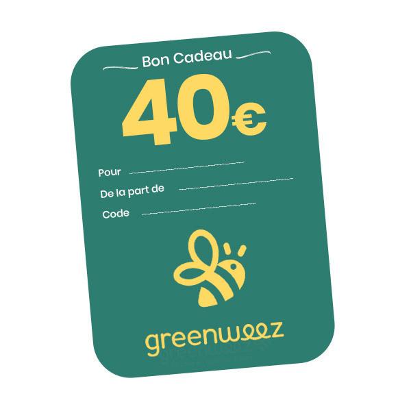 Greenweez.com - Chèque cadeau 40 Euros