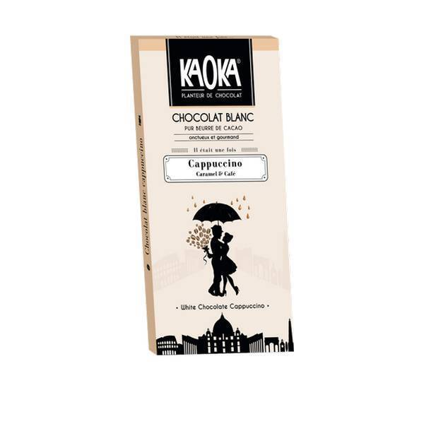 Kaoka - Tablette chocolat blanc Café caramel 35% 100g