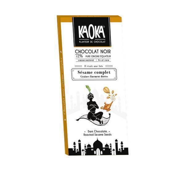 Kaoka - Tablette chocolat noir Sésame 72% 100g