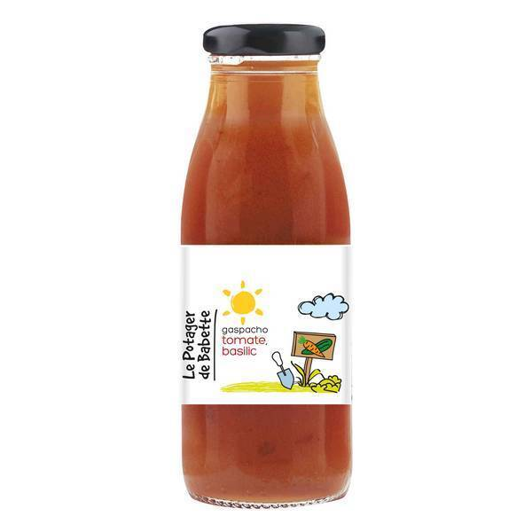 Le potager de Babette - Gaspacho tomate basilic 250ml