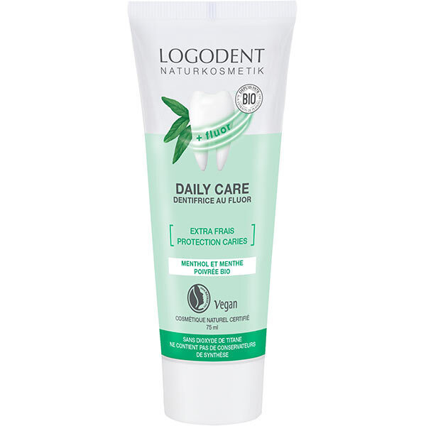 Logona - Dentifrie fluor Daily Care Extra frais, 75 ml