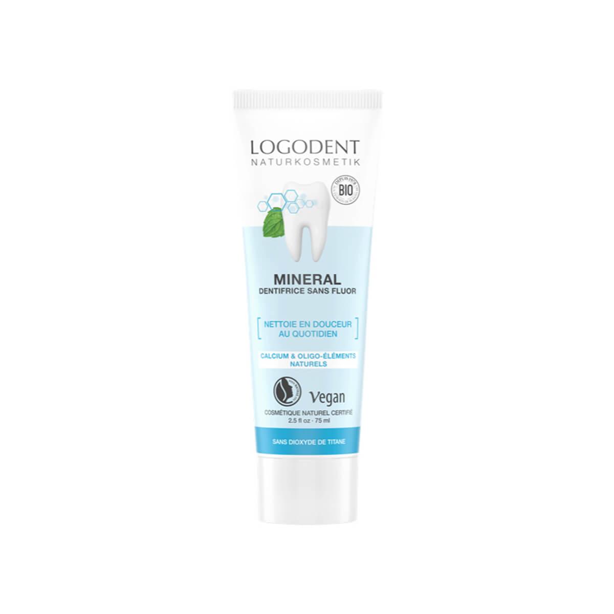 Logona - Pâte dentifrice minérale sans fluor 75 ml