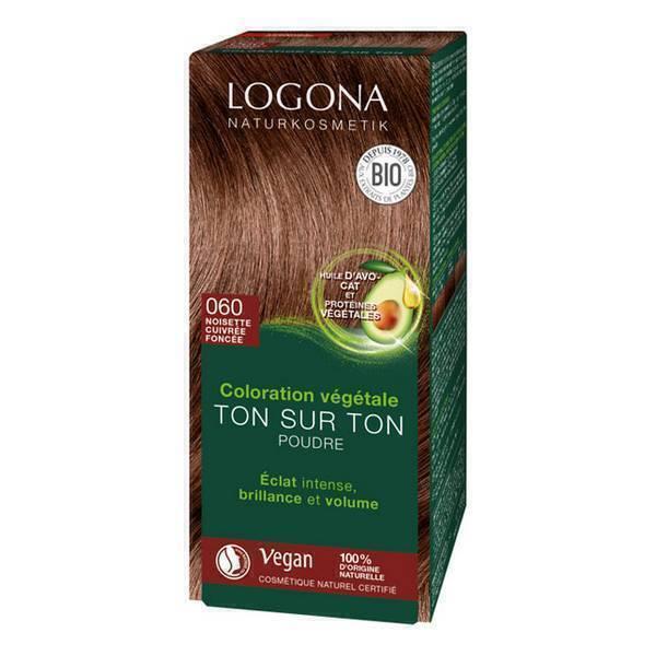 Logona - Soin colorant 100% noisette cuivrée foncée 100g