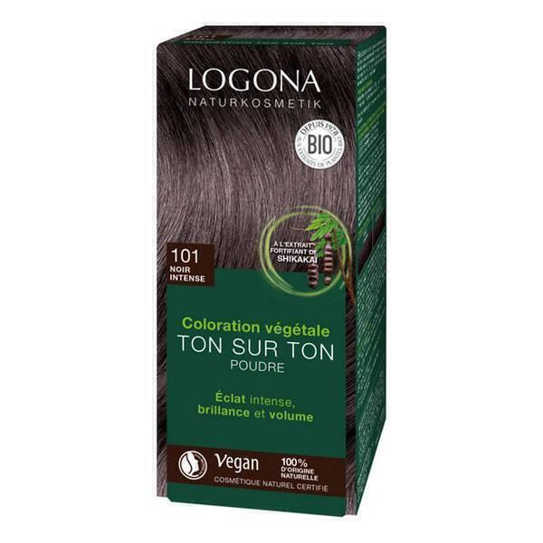 Logona - Soin colorant 100% noir intense 100g