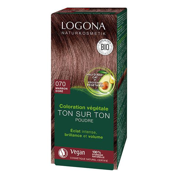 Logona - Soin colorant marron doré 100g