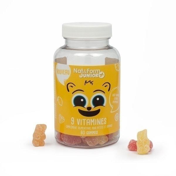 Nat & Form - 9 vitamines enfants x 60 gommes