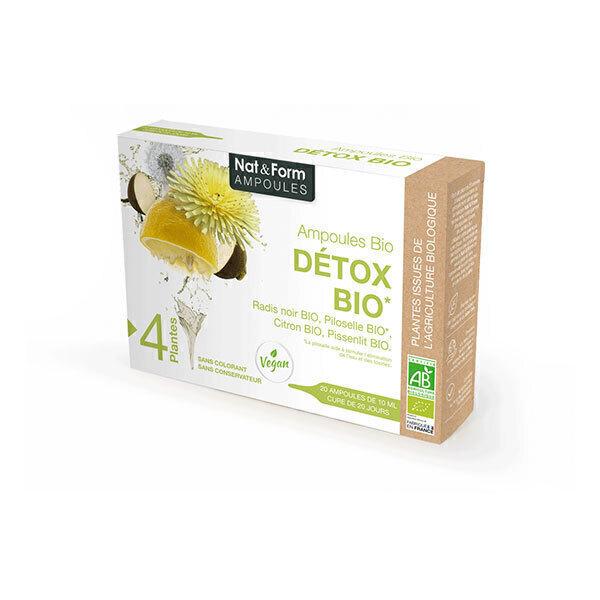 Nat & Form - Détox Bio x 20 ampoules de 10mL