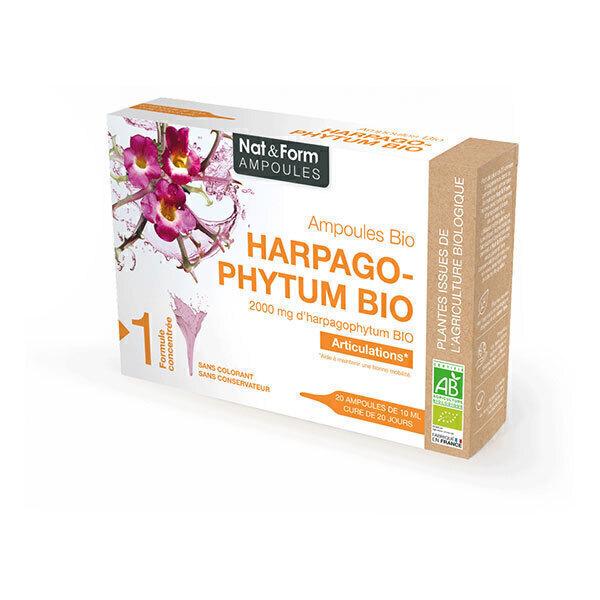 Nat & Form - Harpagophytum Bio x 20 ampoules de 10mL