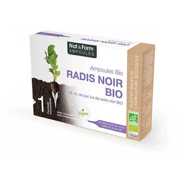 Nat & Form - Radis Noir Bio x 20 ampoules de 10mL