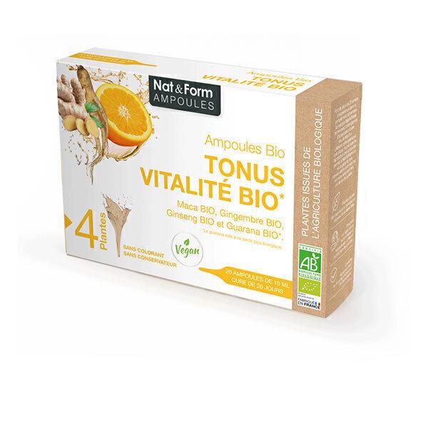 Nat & Form - Tonus Vitalité Bio x 20 ampoules de 10mL