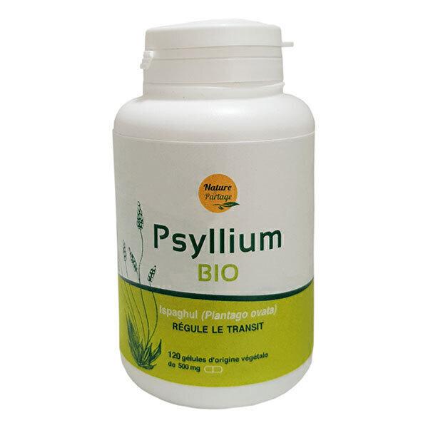 Nature & Partage - Psyllium Ispaghul Bio x 120 Gélules Végétales