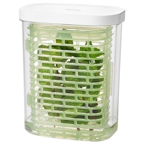 Oxo - Boîte de conservation Greensaver pour herbes 1,7L