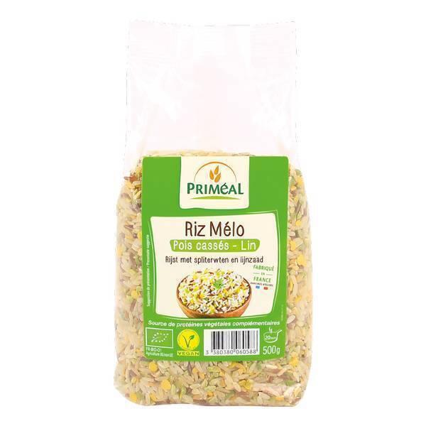 Priméal - Riz mélo pois cassés et lin 3kg