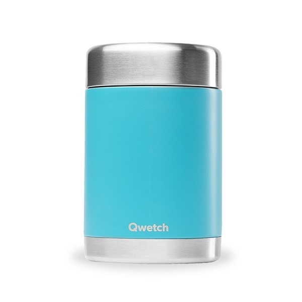 Qwetch - Boîte repas isotherme inox Turquoise 50cl