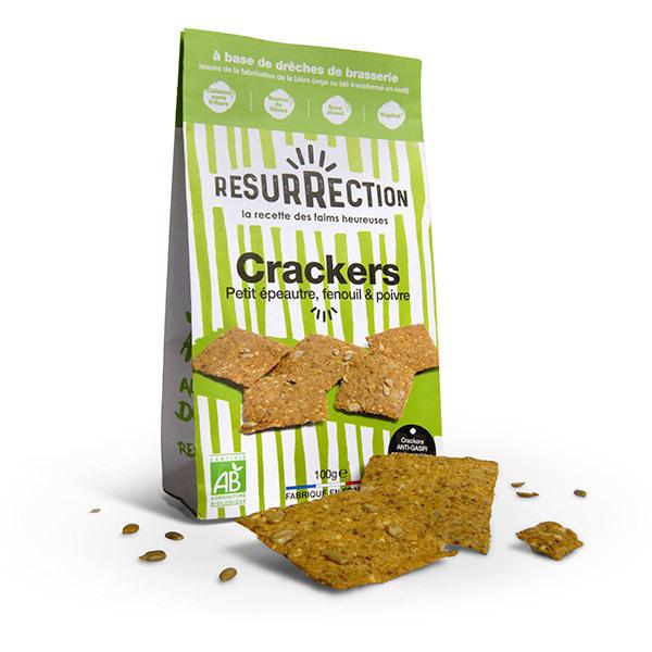 Résurrection - Crackers petit épeautre, fenouil et poivre 100g
