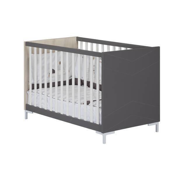 Sauthon - Lit bébé Dark Grey 120x60cm