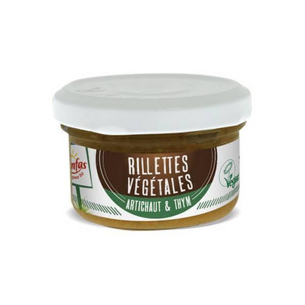 Senfas - Rillettes végétales Artichaut-thym Bio 90g