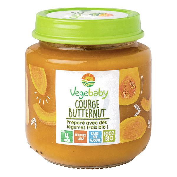 Vegebaby - Pot Courge butternut-patate douce bio bébé 190g