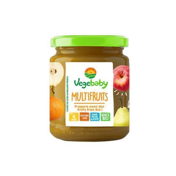 Vegebaby - Pot Multifruits bio bébé 120g