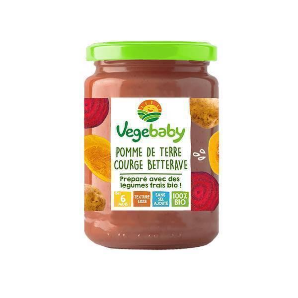 Vegebaby - Pot Pommes de terre-potiron-betterave bio bébé 190g