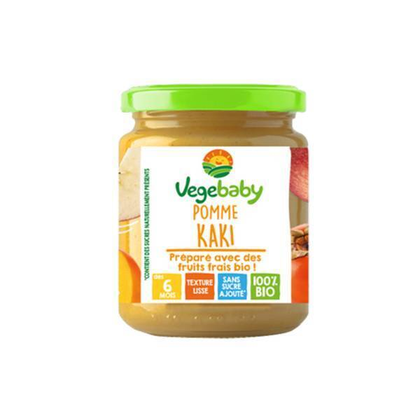 Vegebaby - Pot Pomme-kaki bio bébé 120g