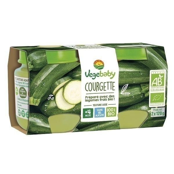 Vegebaby - Pots Courgette bio bébé 2X120G