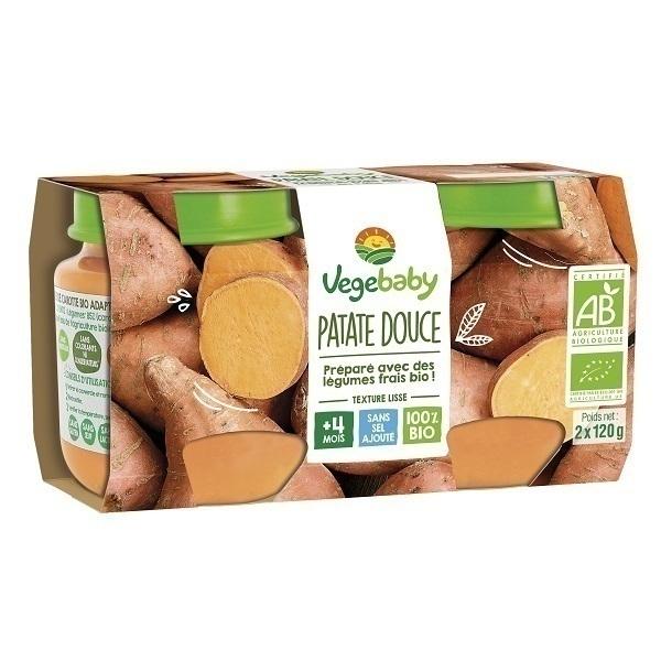 Vegebaby - Pots Patate douce bio bébé 2X120G