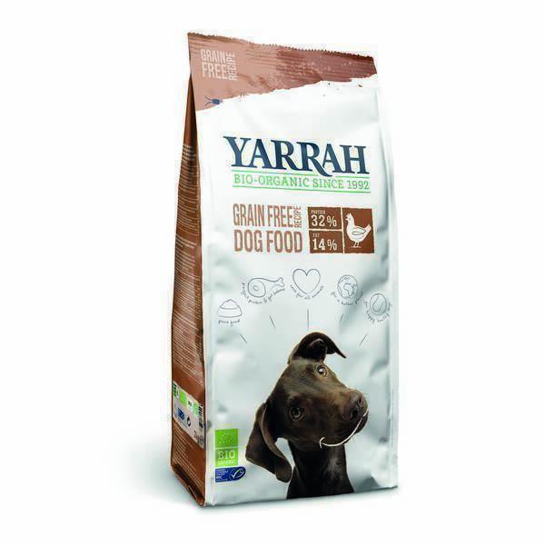 Yarrah - Croquettes sans céréales poulet poisson chien 2Kg