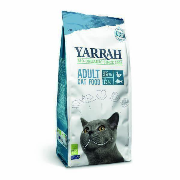 Yarrah - Croquettes pour chat Poisson 2,4kg