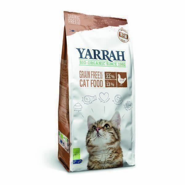 Yarrah - Croquettes sans céréales chat Poulet 2,4kg