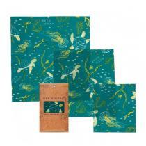 Bee's Wrap - Emballage réutilisable 3 tailles Ocean