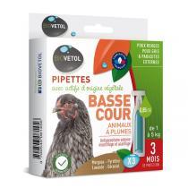 Biovetol - Etui de 3 pipettes antiparasitaires basse-cour 0,85ml
