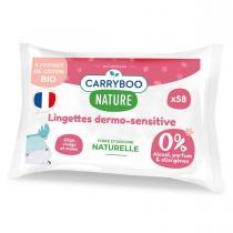 Carryboo - 58 Lingettes Sans Parfum, Extrait de Coton BIO