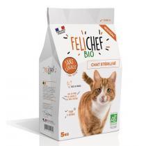 Felichef - Croquettes bio sans céréales chat stérilisé 5kg