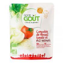 Good Gout - Lot de 2 x Plat Compotée Fenouil Tomate Riz Basmati dès 12 moi