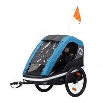 Hamax - Remorque vélo enfant Avenida Twin Bleu pétrole