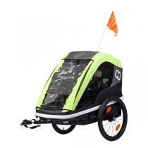 Hamax - Remorque vélo enfant Avenida Twin Vert citron