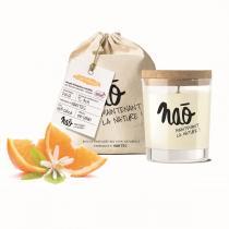 Naõ - Bougie parfumée Bio verre sérigraphié Fleur d'oranger 200g
